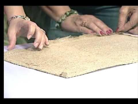 122 mantel individual en tela de yute youtube - Ideas para hacer manteles ...