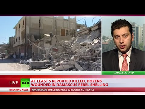 Damascus suffers heavy shelling ahead of Iranian FM visit to Syria