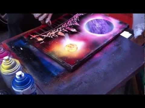Amazing Spray Paint Art - NewYork City - Like & Share