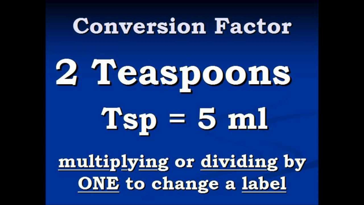 How Many Ml Equals One Teaspoon Conversion Video Teaspoons to
