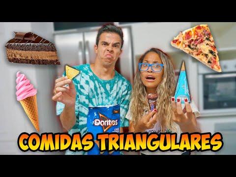 UM DIA INTEIRO SÓ COMENDO COMIDAS TRIANGULARES! - KIDS FUN