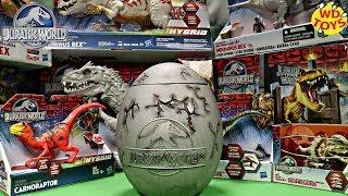 New Giant Jurassic World Surprise Egg For Kids / T-Rex Vs Indominus Rex / Velociraptor, Unboxing