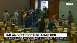 Fahri Hamzah Sahkan Hak Angket KPK, Paripurna Ricuh