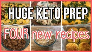 HUGE Keto Meal Prep | FOUR new recipes! | Lunches & Dinners
