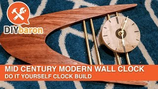 Mid Century Modern Clock Build - Do It Yourself Clock Project