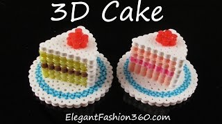 Hama/Perler Beads Cake 3D - How to Tutorial by Elegant Fashion 360
