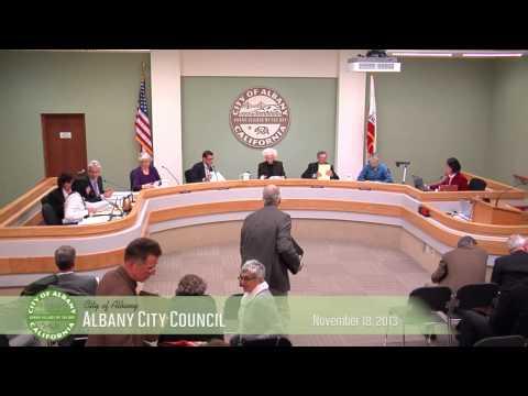Albany City Council - Nov 18, 2013