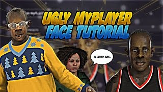 UGLY MyPLAYER FACE TUTORIAL 😷| HOW TO MAKE MyPLAYER FACE | NBA 2K17
