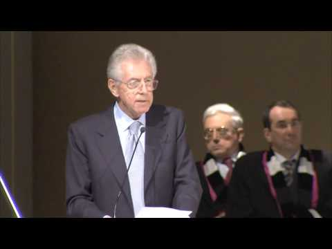 Mario Monti at the opening of the Academic Year