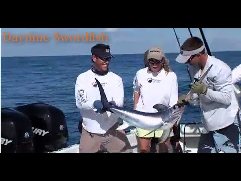 Daytime Swordfish, Sharks, Dolphin and Barracuda for Korie and Josh on Bass 2 Billfish (Hawks Cay)