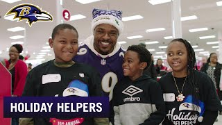 Brandon Carr and Ravens Host Holiday Helpers for Kids  | Baltimore Ravens