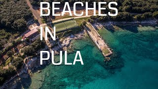 🔵 Most popular beaches and bays in Pula | Croatia Beaches | Sandy Beaches | Natural Beaches |