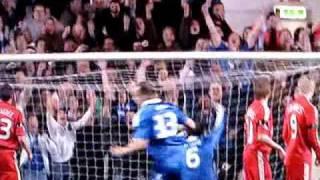 Amazing Free Kick By Alex vs Liverpool 4-14-2009 HD