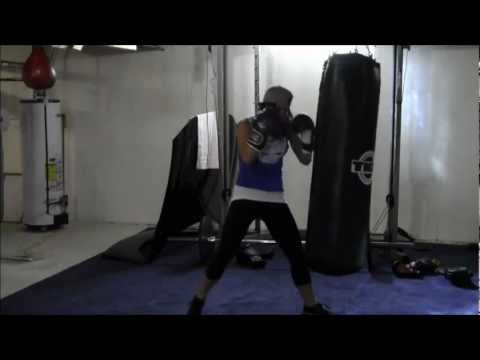 WOMENS FITNESS BOXING DEMONSTRATION HEAVY BAG TRAINING  YOUR TIME TRAINING WITH MELISA Image 1