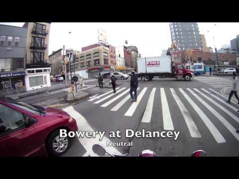 Shifting in city traffic, Royal Enfield Bullet 500, New York City