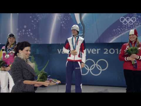 Women's 3000M Speed Skating Victory Ceremony - Vancouver 2010 Winter Olympic Games