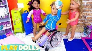 AG Dolls Dress up Doll Clothes Gymnastics Class!