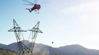 Erickson Air-Crane - Power Transmission Tower Construction