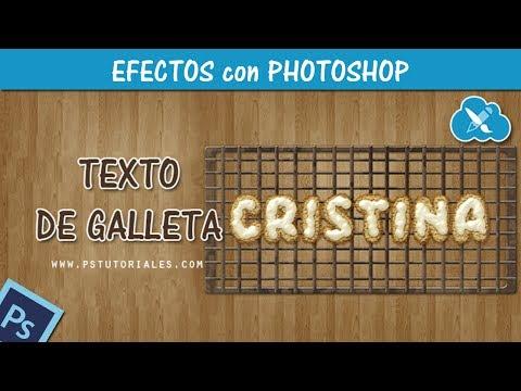 Photoshop - Efecto de texto - galletas con crema al horno