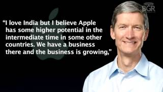 Tim Cook on India's importance to Apple
