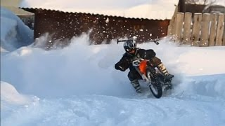 Motocross on snow