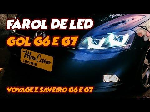 UNBOXING & REVIEW   Farol de Led - Linha Gol G6