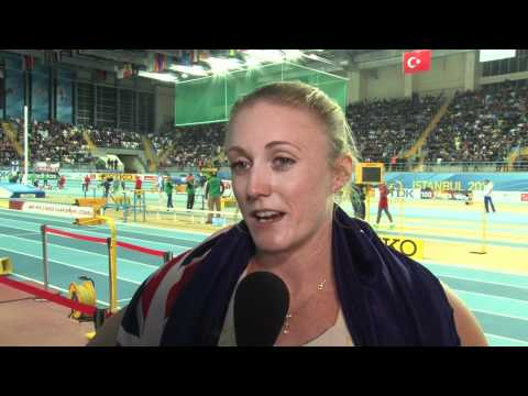 Sally Pearson gold medal in women's 60 hurdles World Indoors 2012