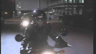 Actress Katrina Levon In Motorcycle Helmet And Gloves