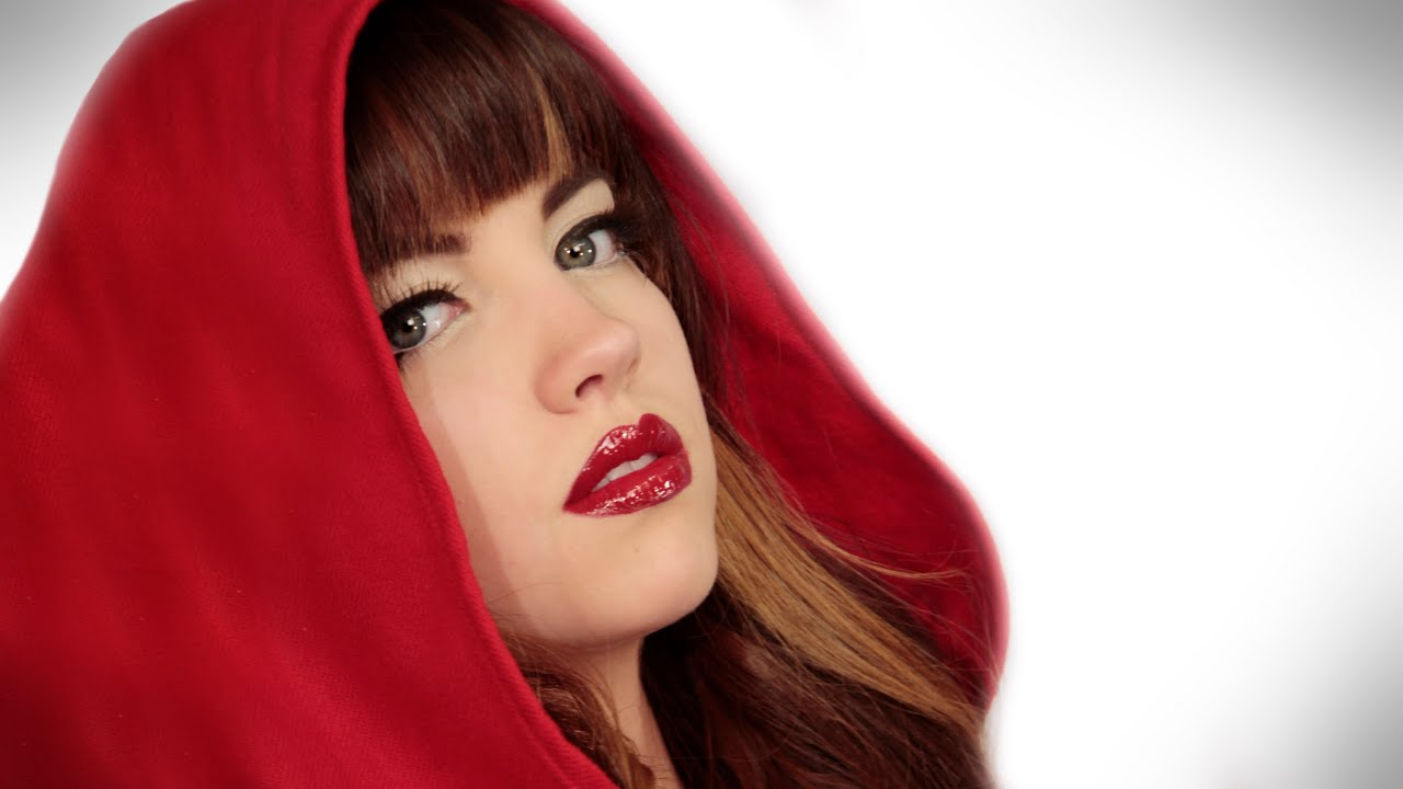 Red Riding Hood for Halloween: Makeup Tutorial Video by - Red Halloween Makeup