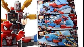 Lắp Ráp Đồ Chơi Lego Siêu Anh Hùng Người Nhện Đỏ, Người Nhện Đen - Lego Stop Motion