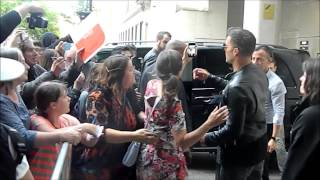 Ricky Martin meets fans outside the One Show BBC 26/05/15