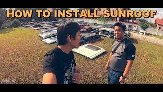 HOW TO INSTALL HALFCUT SUNROOF