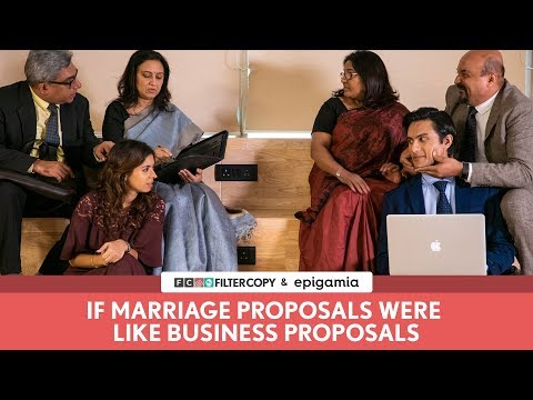 FilterCopy | If Marriage Proposals Were Like Business Proposals