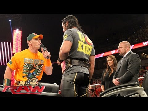 John Cena vs. Seth Rollins Contract Signing: Raw. Aug. 17. 2015