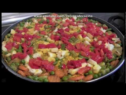 Arroz con verduras y bacalao - Recetas de cocina fáciles