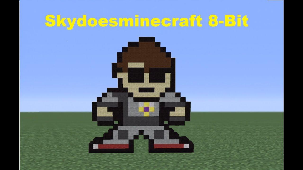 minecraft 360 how to build an 8bit skydoesminecraft