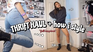 THRIFT HAUL *fall inspired* + how i style (try-on)