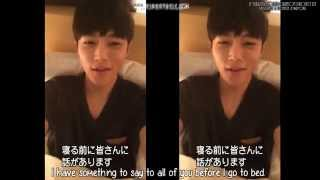 [Eng Sub]  Infinite Myungsoo 24 hours music connecting card message