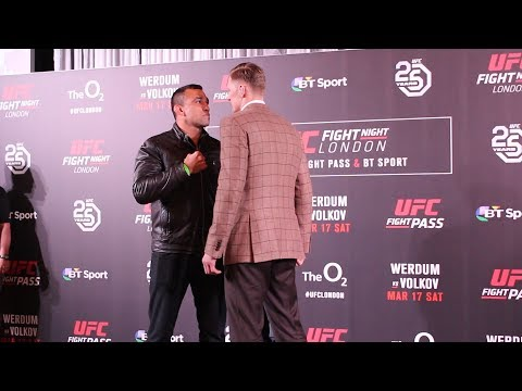 UFC London: Fabricio Werdum vs. Alexander Volkov Staredown - MMA Fighting