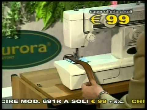 014 aurora d 39 agostino macchina da cucire 691 youtube for Macchina da cucire da tavolo