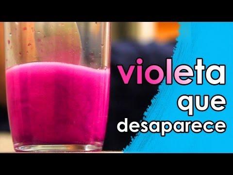 O violeta que desaparece (experiência de Química)