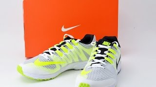 NIKE air zoom speed rival 4-wide (black / white / green ghost / volt) 724455-107  78701