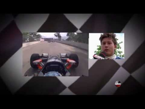 2013 Indycar Detroit Grand Prix (Race 1) - Sebastian Saavedra crash and flips off Marco Andretti