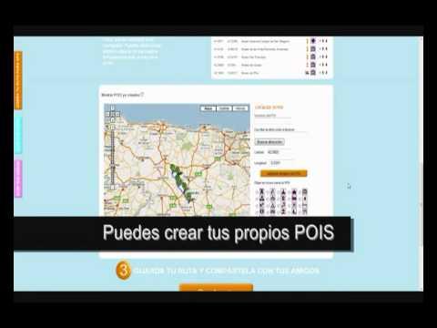 Cómo hacer una ruta turística para tu GPS, Tom Tom, Garmin, Mio o Navman. Demo.