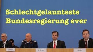 Pressekonferenz / Naive Fragen zu IWF, Merkel- & Massenüberwachung, BND, Adoption, Waffenexport & Cy