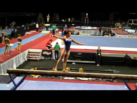 Lexie Priessman - 2012 Kellogg&#039;s Pacific Rim Championships - podium training - beam