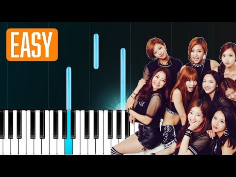"TWICE - ""Candy Pop"" 100% EASY PIANO TUTORIAL"