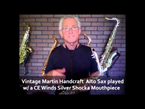 Saxmall Vintage Martin Handcraft Alto Saxophone Sax Played W  Ce Winds Silver Shocka Mouthpiece video