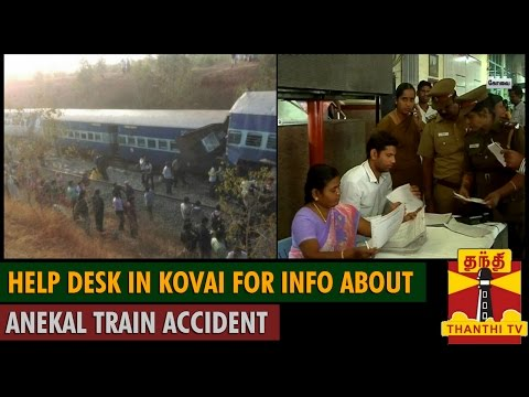 Bangalore - Ernakulam Intercity Express Derailed - Help Desk in Coimbatore