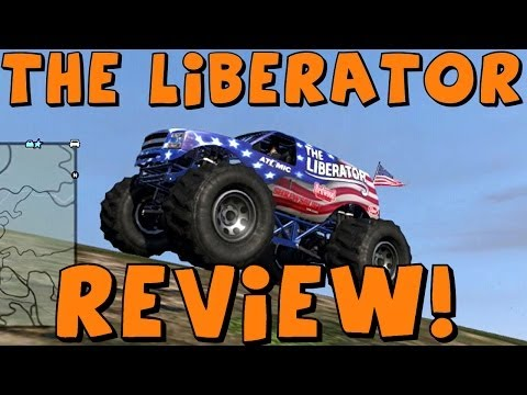 GTA 5 Online   Liberator Monster Truck!!   Test Drive. Review. Car Crushing!